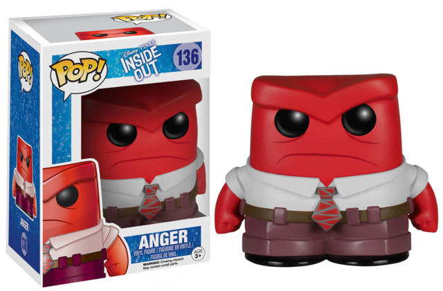 Funko POP Vinyl Figure Disney Pixar Inside Out Anger 136