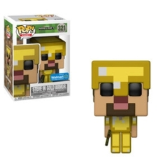 Funko POP Games Vinyl Figure Mojang Minecraft - Steve in Gold Armor 321 - EXCLUSIVE