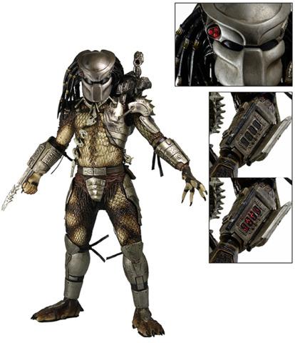 NECA Predator – 1/4 Scale Action Figure – Jungle Hunter with LED Lights