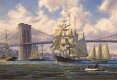 Anatolian Puzzle Violette Passing Brooklyn Bridge - 2000 pc