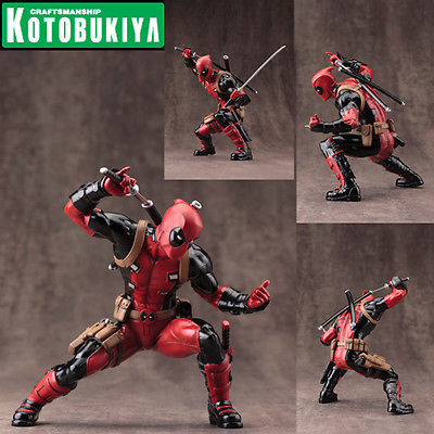 Kotobukiya ArtFX Plus Statue 1/10 Scale Pre Painted Model Kit Marvel Now! Deadpool
