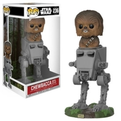 Funko POP Vinyl Bobble-Head Figure Star Wars -  Chewbacca with AT-ST 236