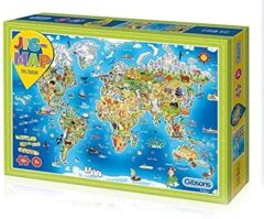 Gibsons Puzzle - Jig-Map Our World 250 pc