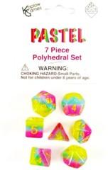 Polyhedral Dice 7 piece set - Pastel