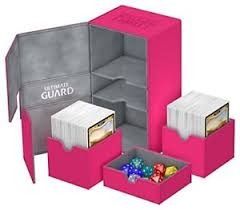 Ultimate Guard Deck Box, Twin Flip n' Tray 200+ Pink