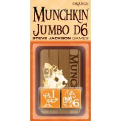 Munchkin Jumbo d6 Orange Pair of dice