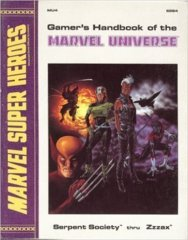 Gamer's Handbook of the Marvel Universe - Marvel Super Heroes Serpent Society RETRO 1988