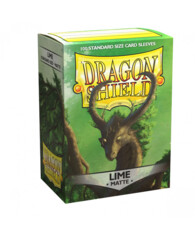 Dragon Shield Card Sleeves Box of 100 in Matte Lime