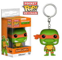 Funko POP Pocket POP TMNT Teenage Mutant Ninja Turtles Michelangelo Keychain