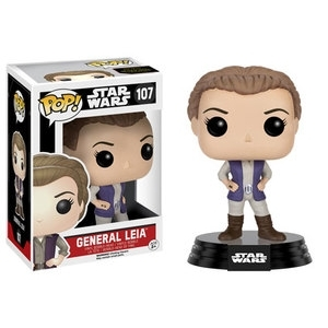 Funko POP Vinyl Bobble-Head Figure Star Wars The Force Awakens - General Leia 107 - VAULTED