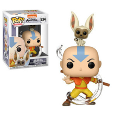 Funko POP Animation Vinyl Figure Avatar: The Last Airbender - Aang with Momo 534