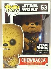 Funko POP Vinyl Bobble-Head Figure Star Wars The Force Awakens Chewbacca 63 - Smuggler's Bounty Exclusive FLOCKED