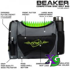 MVP Beaker V2 Disc Golf Bag - Gray/Lime