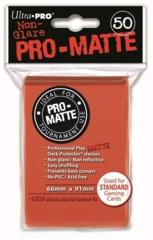 Pro-Matte Peach Standard Deck Protectors - 50ct