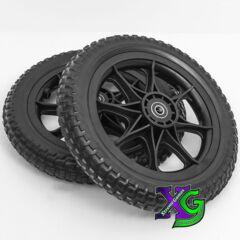 Wheels All-Terrain Tubeless Foam Zuca Dynamic Discs Cart Set of 2 - Black
