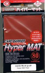 KMC Hyper Matte Red Sleeves (80ct)