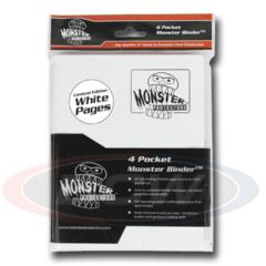 Monster 4 Pocket Binder - White