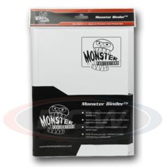Monster 9 Pocket Binder - White