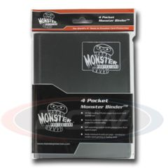 Monster 4 Pocket Binder - Black