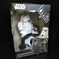 Cable Guys Star Wars - Stormtrooper Phone and Controller Holder with Charging Cable