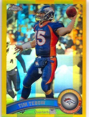 2011 Topps Football Tim Tebow GOLD Refractor 32/50