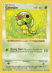 Caterpie - 45/102 - Common - 1st Edition MISPRINT